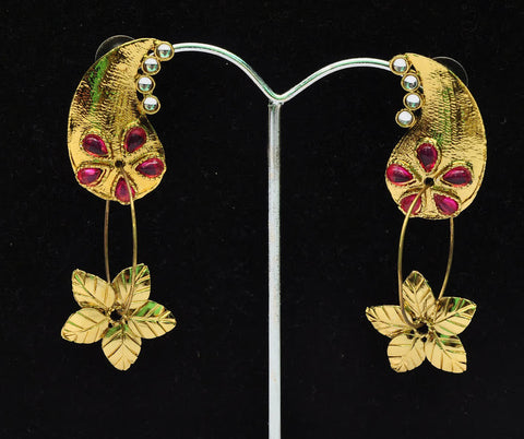 Floral Dangle Jhumka Earrings