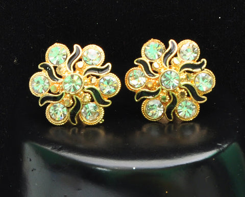 Unique Gold Studded Indian Earrings