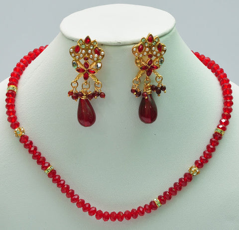 Elegant Red Beaded Necklaces