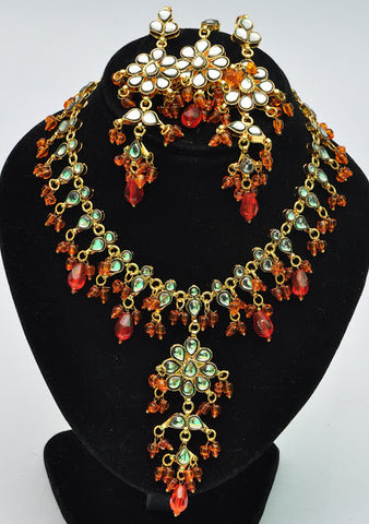 Firery Kundan Necklace