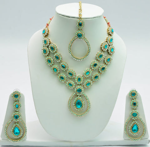 Captivating Blue Necklace Set