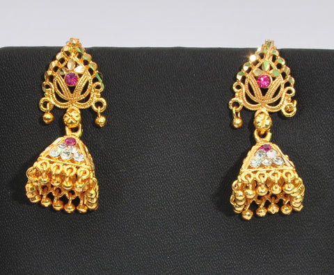 Royal Indian Jhumka Earrings