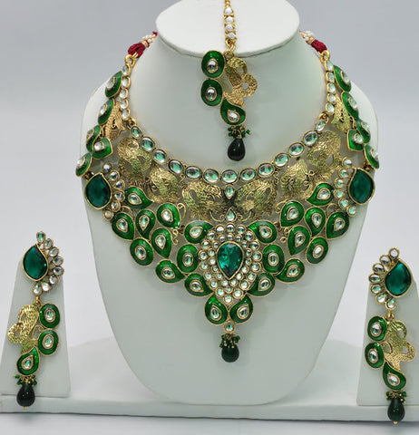 Tropical Green Designer Necklace