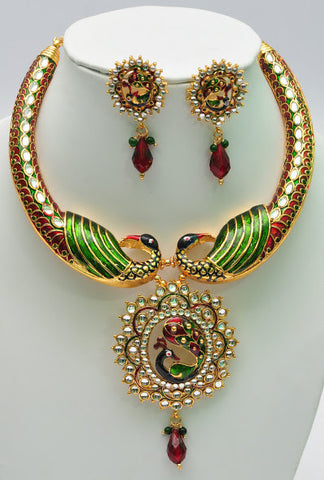 Brilliant Peacock Necklace Set