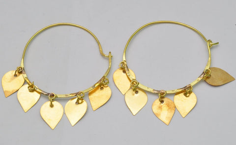 Gold Indian Dangle Earrings