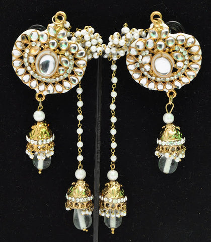 Kashmiri Indian Kundan Jhumki Earrings