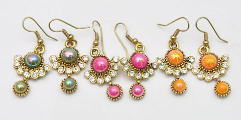 Birthstone Jhumki Earrings