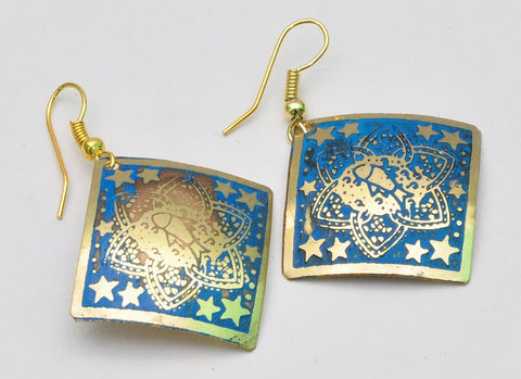 Indian Stud Chandelier Earrings
