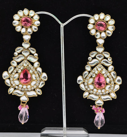 Bold Pink Ruby Earrings