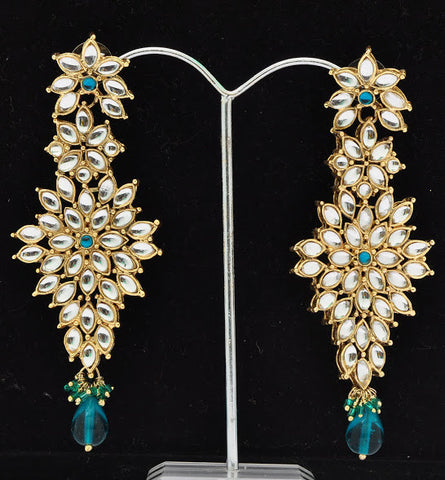 Radiant Blue Crystal Earrings