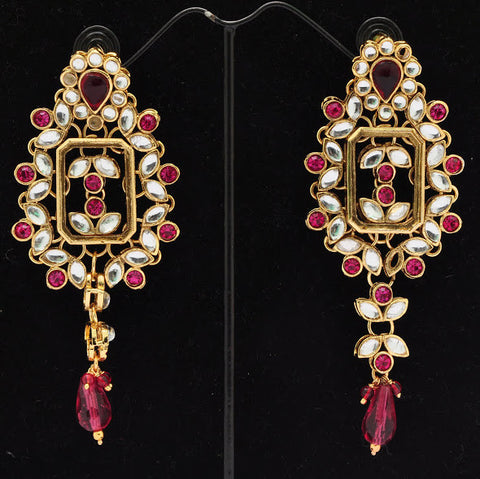 Elegant Pink Jhumki Earrings