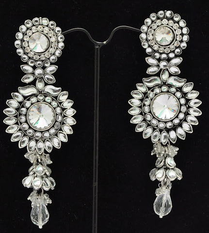 Brilliant Crystal Jhumki Earrings