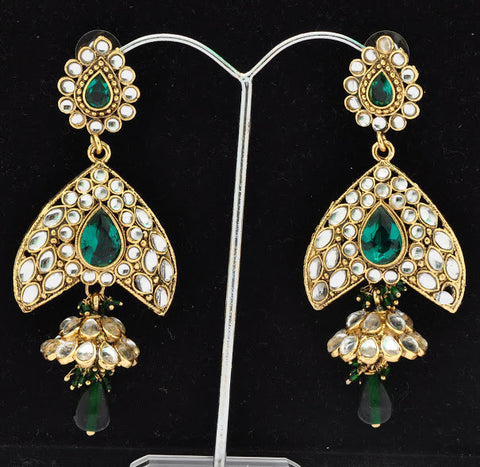 Green Grand Emerald Earrings