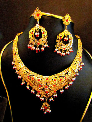 Classic Gold Plated Necklace Set
