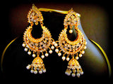 Silver Base Pakistani Style Jhumka Earrings
