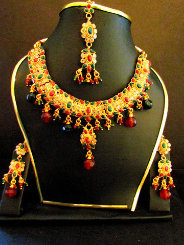 Polki Gold Plated Necklace Set