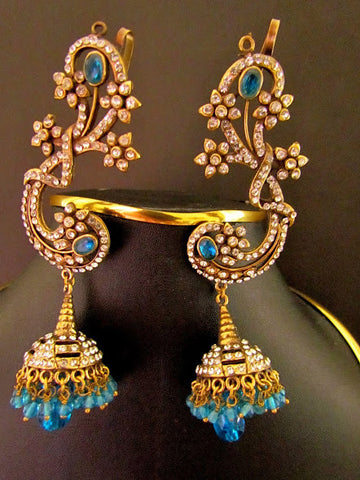 Peacock Blue Jhumki Earring