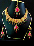 Unique Polki Gold Plated Necklace Set