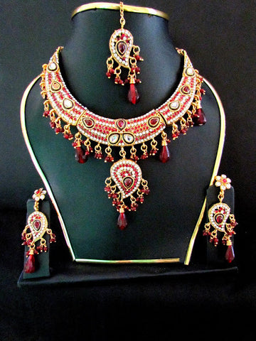 Hot Polki Gold Plated Necklace Set