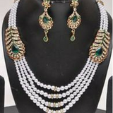 Multi Layered Pearls Necklace Set
