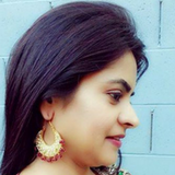 Kundan Valia with Meena Earrings