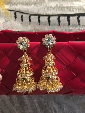 Beautiful Gold Kundan Earrings