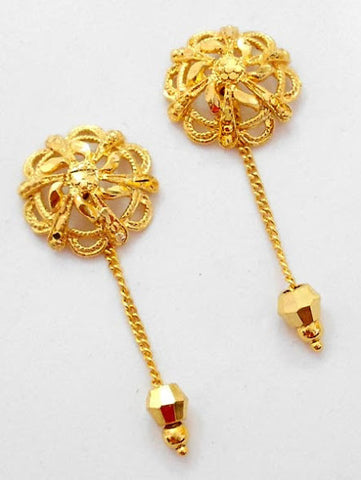 Gold Stud Sunflower Earrings