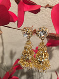 Gold jhumka light weight earrings from India