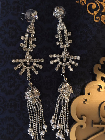 Silver Indian Fashion Earrings Jewellery