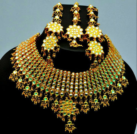 Gorgeous Gold Kundan Necklace Set