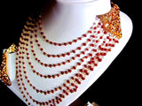 Red Beads Bunch Necklace Set