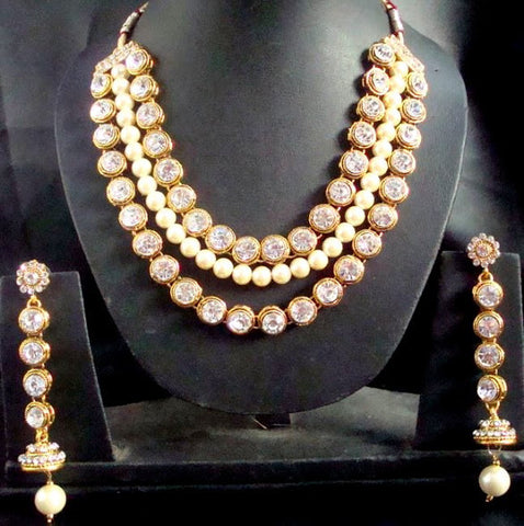 Low Hanging Necklace Set
