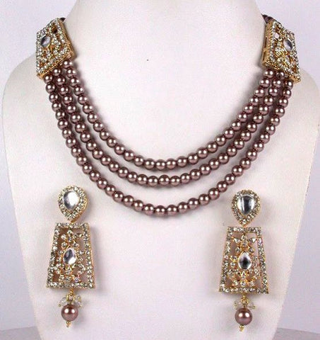 Lavander Pearl necklace Set