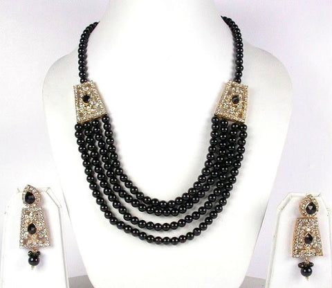 Black Pearl necklace Set