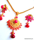 Gold Plated Kundan Pendant Set