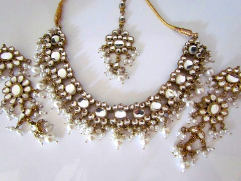 Crystal Indian Necklace Set