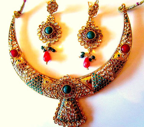 Emerald Choker Kundan necklace