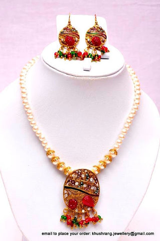 Classic Beaded Kundan Necklace