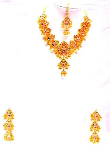 Indian Gold Kundan Necklace Set