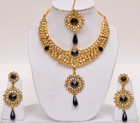 Black Stone Kundan Necklace