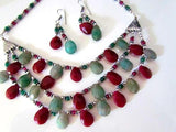 Elegant Bead Bunch Necklace Set