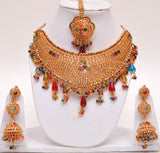 Fancy Indian Necklace set Gold Plated 1gram polish