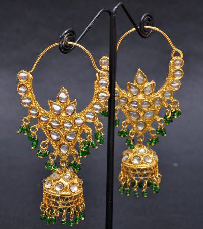 Gold Plated Jhumka Walia