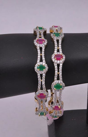 Diamond Gemstones Bangles