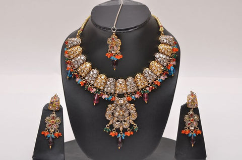 Victorian Multi Stone Necklace Set