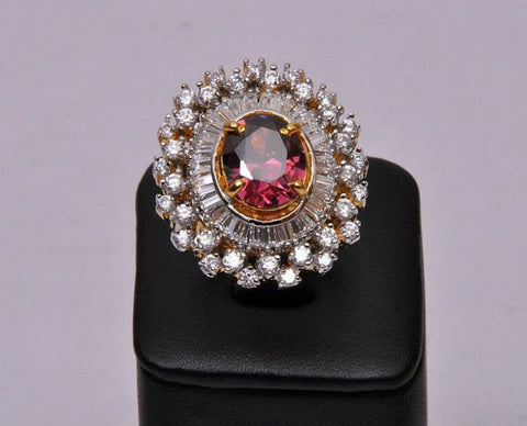 Red Ruby Diamond Ring