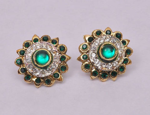 Stud Green Topis Earrings