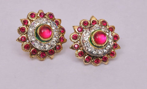 Stud Red Tone topis Earrings