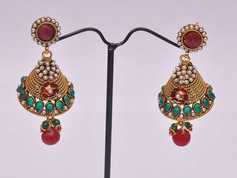 Colorful Gold Plated Earrings