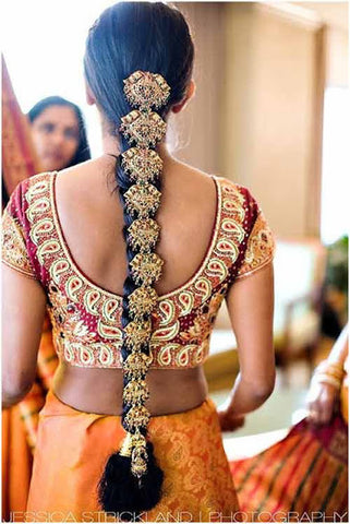 Golad Plated Indian Hairset